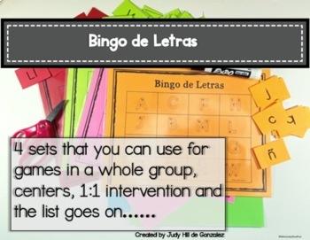 ABC Bingo and Handwriting Practice in Spanish