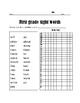 ABC, Blends, and Sight words Assessment