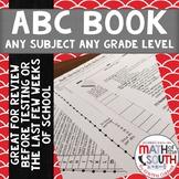 ABC Book - FULLY EDITABLE ANY SUBJECT ANY GRADE LEVEL