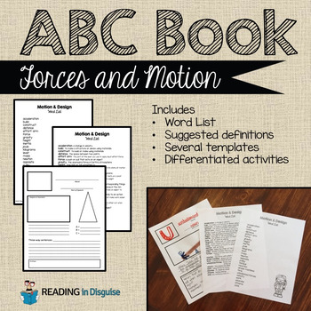 Forces and Motion Vocabulary Study