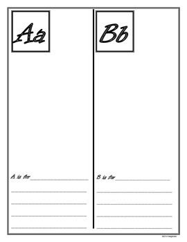 ABC Book Planning Page and Student Writing Booklet