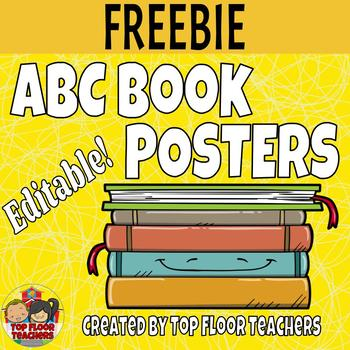 ABC Book Posters - Editable!