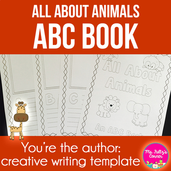 ABC Book Template: All About Animals