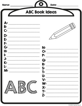 ABC Book Template - Full Page