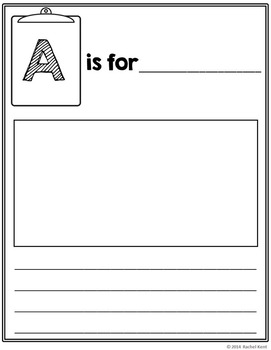 abc book template full page by rachel k resources tpt
