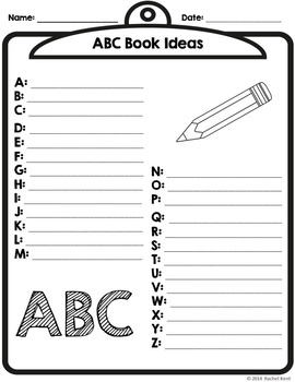 ABC Book Template - Half Page