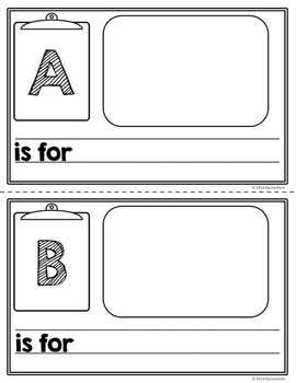 photograph regarding Abc Book Printable named ABC E book Template - 50 % Web page
