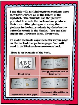ABC Book Template for Review of the Alphabet