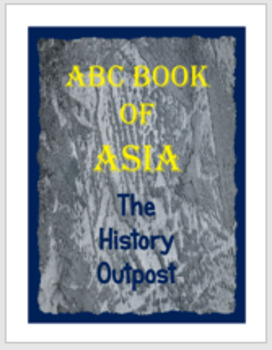 ABC Book of Asia Project Sheet with Rubric