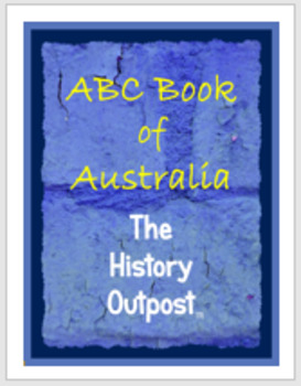 ABC Book of Australia Project Sheet with Rubric