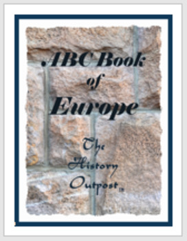 ABC Book of Europe Project Sheet with Rubric