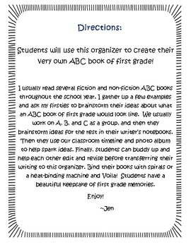ABC Book of First Grade