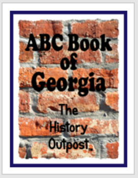 ABC Book of Georgia (USA) Project Sheet with Rubric