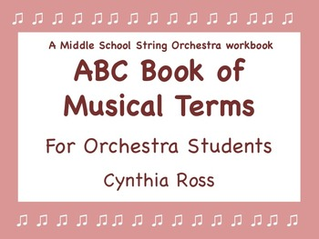 ABC Book of Musical Terms for Orchestra Students