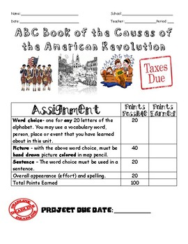 ABC Book of the Causes of the American Revolution