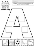 ABC Boot Camp FULL ALPHABET Sort 'N Write