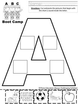 ABC Boot Camp FULL ALPHABET Sort 'N Write