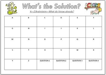 ABC Brainstorm Worksheet