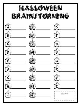 ABC  Brainstorming - Halloween