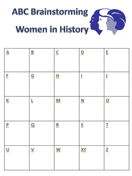 ABC Brainstorming Women in History