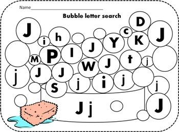 Alphabet Bubble Activity Bundle