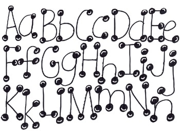 ABC Bubble Letters