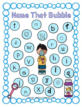 ABC Bubble Wand Letter Recognition