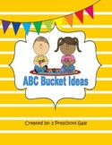 ABC Bucket: Activities for Alphabet Review and Practice