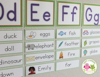 Alphabet activities for preschool kindergarten abc for Free printable word wall templates