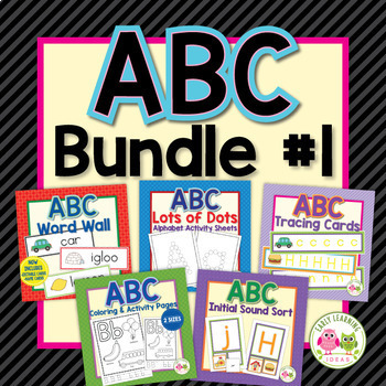 ABC Bundle #1: Alphabet Activities for Early Childhood Education
