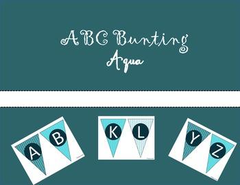 ABC Bunting-Aqua