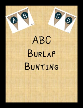 ABC Burlap Bunting