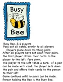 ABC Busy Bee Match Game
