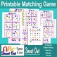 """ABC CAPITAL LETTERS Matching Game SHOUT OUT; 3"""" & 5""""; 31 p"""