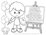 ABC COLORING BOOK FOR BOYS: LITTLE ARTISTS!  NEW PRODUCT!