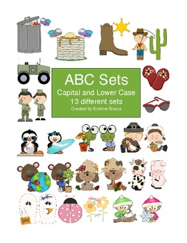 ABC Capital and Lower Case 13 Different Alphabet Sets