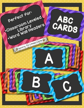 ABC Cards -Classroom Library & Word Wall Labels