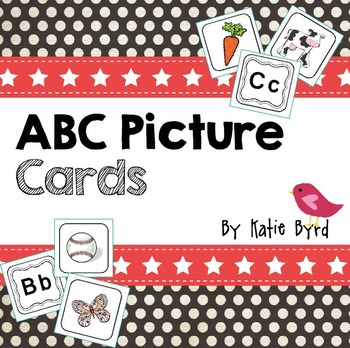 ABC Cards! Letter-sound picture cards