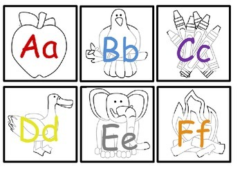 ABC Cards with Visual Cue Objects