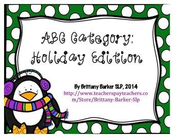 ABC Category: Holiday Edition