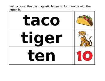 ABC Center - Letter Tt Vocabulary