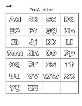 ABC Center Printable