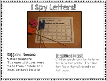 ABC Centers For The Frugal Teacher {Letter ID} - SET 2