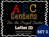 #tptjulychristmas ABC Centers For The Frugal Teacher {Letter ID} - SET 2