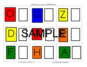 ABC Centers Set 1 - Printable, Ready to Use! PreK-1 Literacy Centers