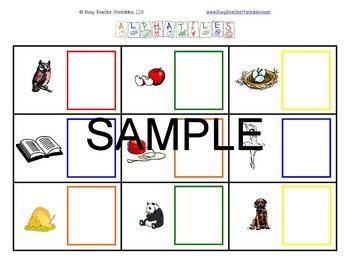 ABC Centers Set 4 - Printable, Ready to Use! PreK-1 Literacy Centers