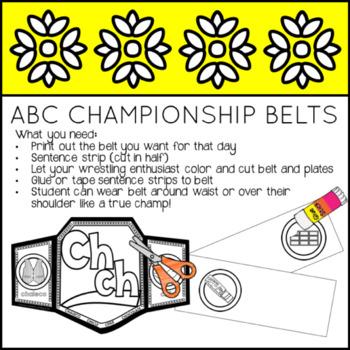 ABC Championship Belts #teachersloveteachers