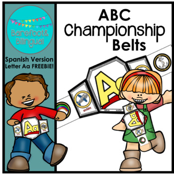 ABC Championship Belts Letter A FREEBIE!