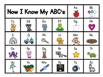 Abc Chart By A Teacher And Her Dog Rachael Bok Tpt I display this in my writing center. abc chart