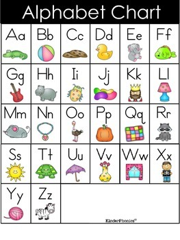 Soft image in free printable alphabet chart
